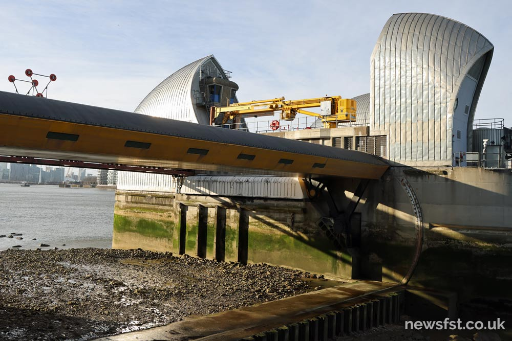 A view of a Thames Barrier gate