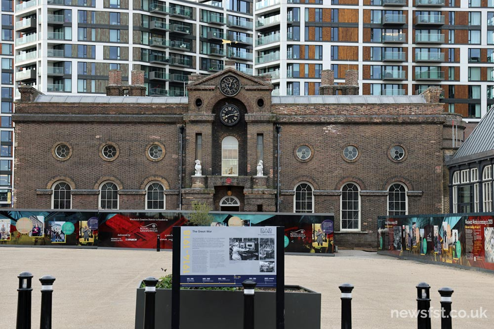 Royal Arsenal London, old and new