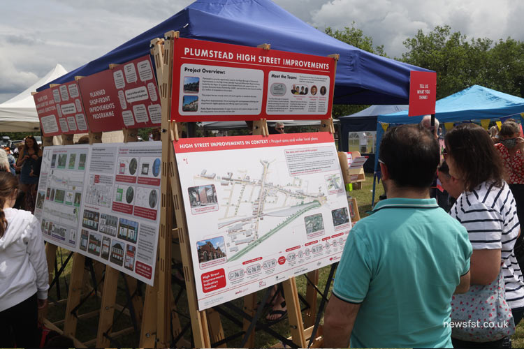 Royal Greenwich council stall about improvements to Plumstead High Street