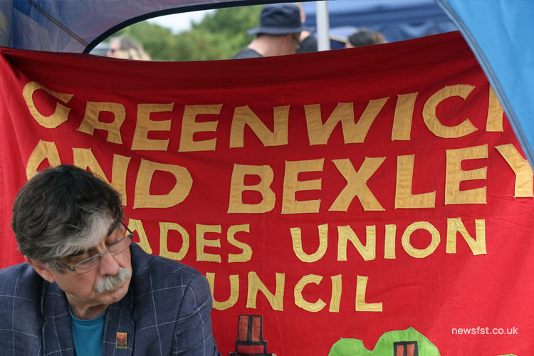 The Greenwich & Bexley Trade Union Council stall